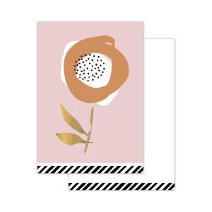 Minikaartjes Arts & Crafts Flowers light pink | CollectivWarehouse