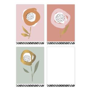 Minikaartjes Arts & Crafts Mix Flowers | CollectivWarehouse