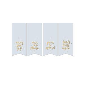 Sweet Message vaantjes cadeaustickers mint | CollectivWarehouse