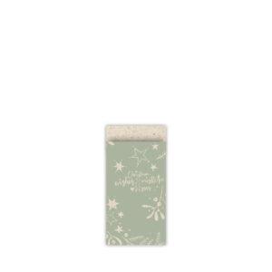 Cadeauzakjes 7x13cm Mistletoe Kisses grasspaper/salie | CollectivWarehouse
