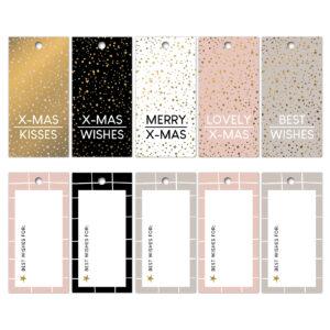 Goldfoil cadeaulabels Kerstwensen '21 | CollectivWarehouse