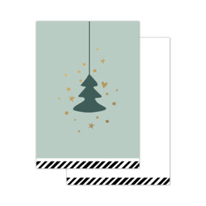 Minikaartjes Vintage Christmas salie 20 stuks | CollectivWarehouse