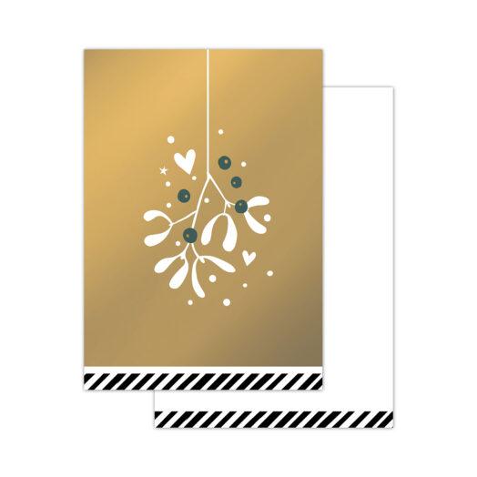 Minikaartjes Vintage Christmas goud 20 stuks | CollectivWarehouse
