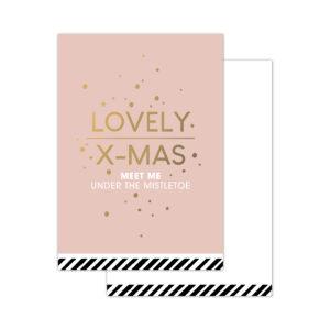 Minikaartjes Christmas Wishes roze 20 stuks | CollectivWarehouse