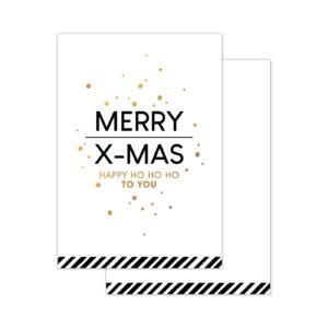 Minikaartjes Christmas Wishes wit 20 stuks | CollectivWarehouse