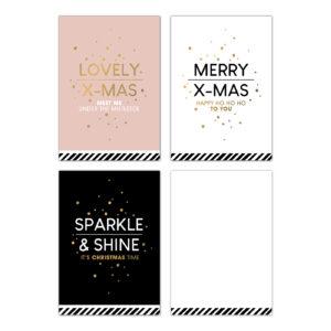 Minikaartjes Christmas Wishes mix 30 stuks | CollectivWarehouse