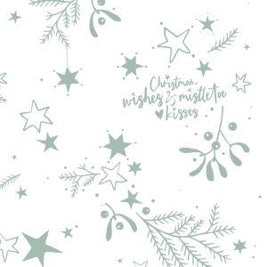 Zijdepapier Mistletoe Kisses salie | CollectivWarehouse