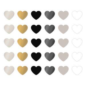 Cadeaustickers chique mix mini hearts | CollectivWarehouse